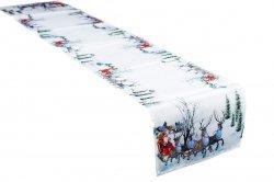 Świąteczny Ozdobny obrus MILANO  wz. 511 rozmiar 40x180