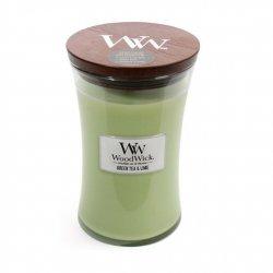 Świeca zapachowa WoodWick - Green Tea & Lime - Duża świeca