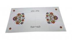 Obrus LUDOWY 010 Łowickie wzory wz. 01 50x100 biały