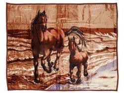 Koc akrylowy Elway, 160x210 wz. Konie