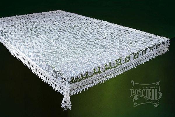 Obrus Gipiura KALIPSO rozm 130x180 kolor: biały
