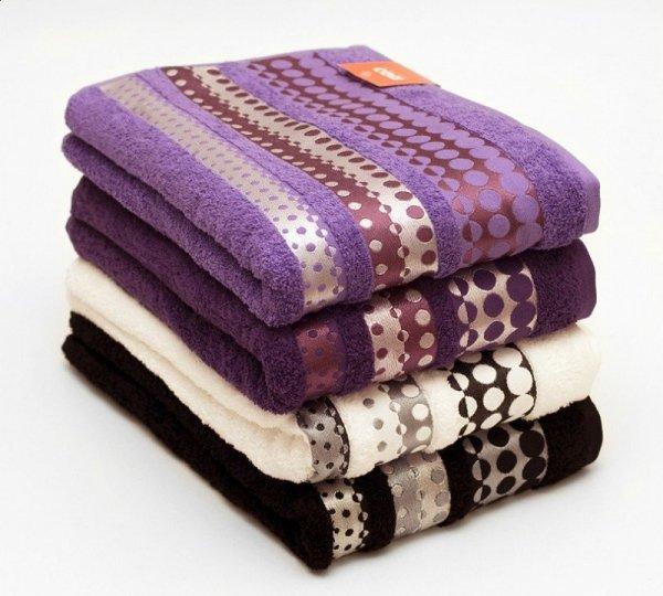 Ręczniki Silver - rozmiar 70x140 wz. biały