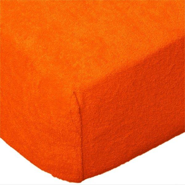 Grube Prześcieradło FROTTE 140x200 na gumkę wz. K31 pomarańczowy