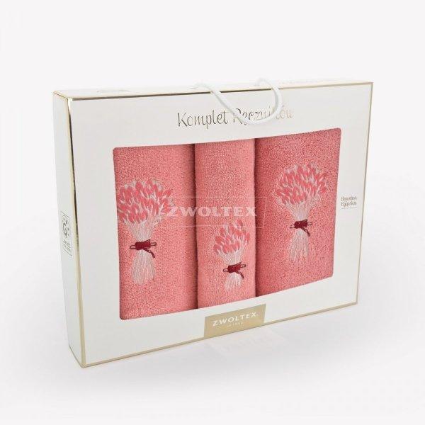 Trzyczęściowy komplet ręczników MELON w pudełku - wz. BUKIET 5208 HOMAR