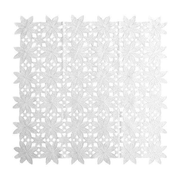 Obrus Haftowany Bruna 181046 85x85 cm kolor: biały