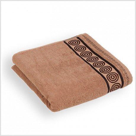 Ręcznik frotte Rondo 50x90 kolor kakaowy