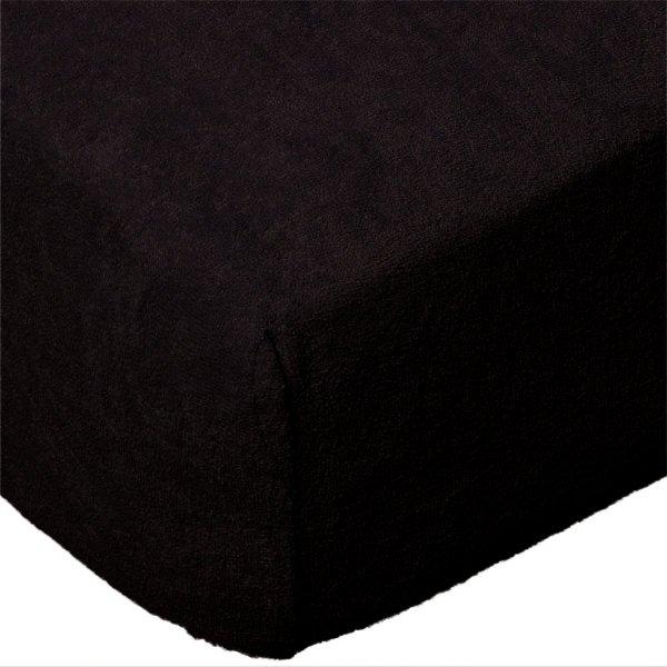 Grube Prześcieradło FROTTE 180x200 na gumkę wz. 027 czarny