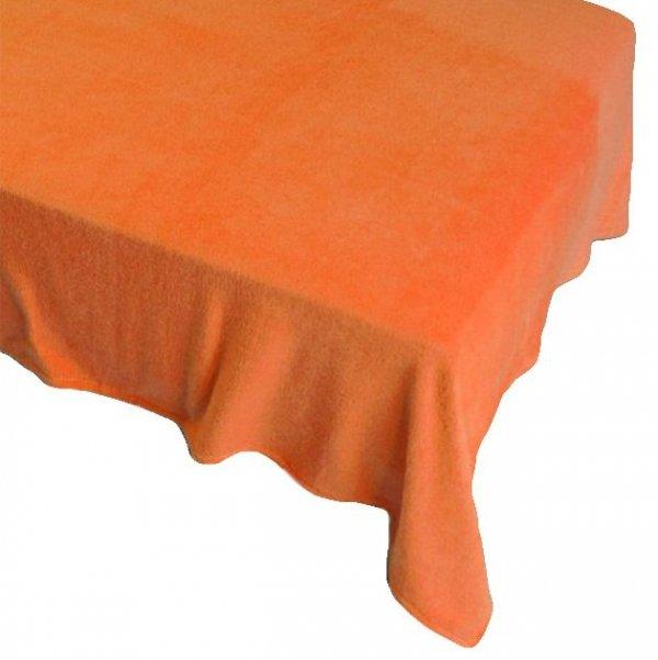 Prześcieradło POLAROWE 160x200 , super miękki polar wz. pomarańczowy