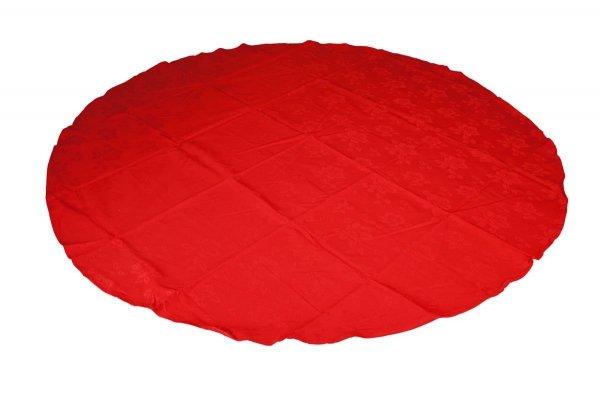 Obrus bawełniany ADAMASZEK LAM Rozmiar: 250cm koło Kolor: czerwony