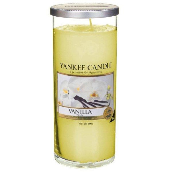Świeca Yankee Candle Vanilla - duży pilar
