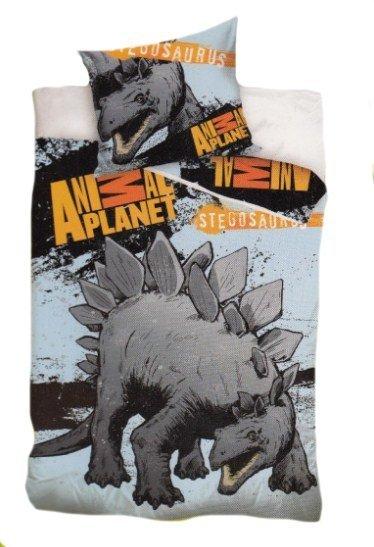 Pościel licencyjna Animal Planet 100% bawełna 160x200 lub 140x200 - Stegosaurus 8014
