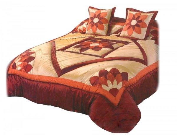 Narzuta na łóżko 180x220 + 2 poszewki 40x40 wz. Wiktoria 04