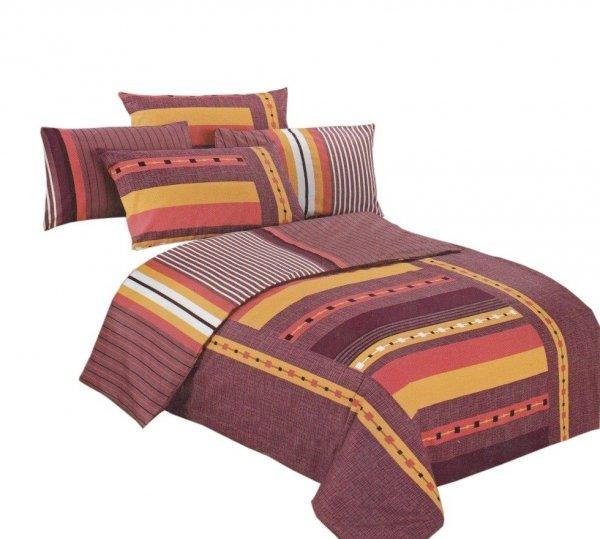 Pościel bawełna satynowa dwustronna 160x200 lub 140x200  wzór 4013