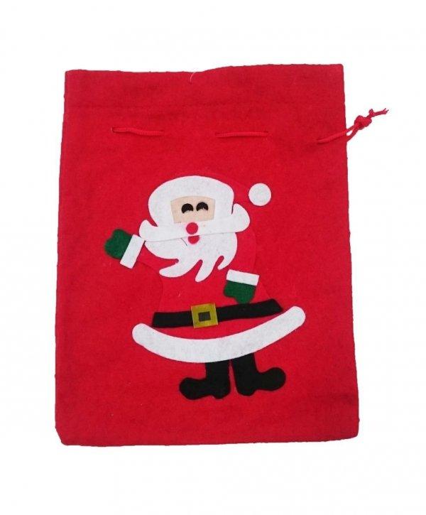 Worki na prezenty, worek Świętego Mikołaja mały roz. 26x20 - wz. 01