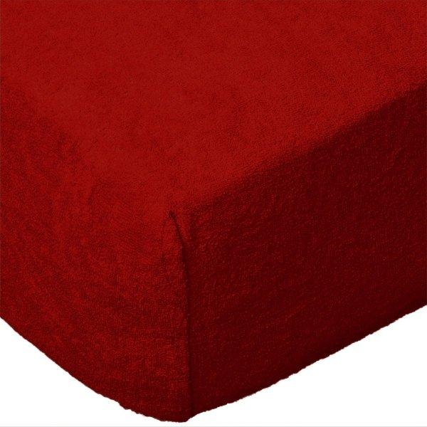 Grube Prześcieradło FROTTE 120x200 na gumkę wz. 029 czerwony