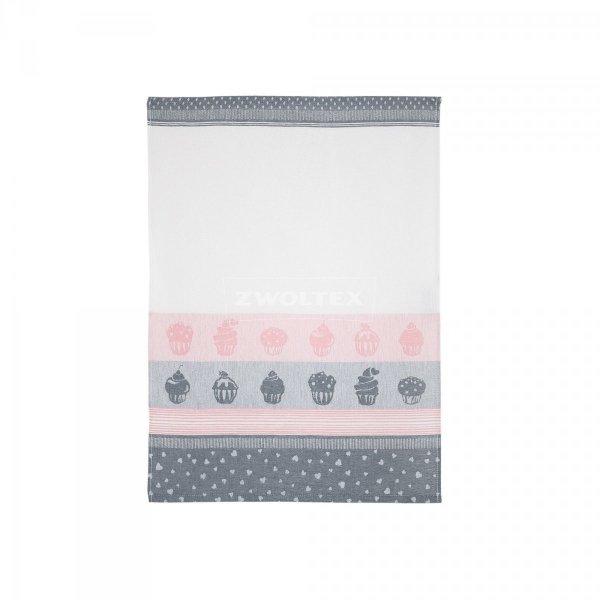 Ścierka Czapla 50x70 muffin szary/różowy