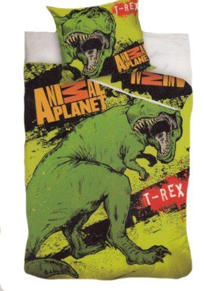 Pościel licencyjna Animal Planet 100% bawełna 160x200 - T-rex 8013