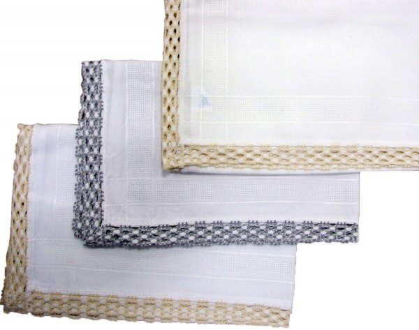 Obrus nakładka rozmiar 85X85 wzór biały/szary (251)