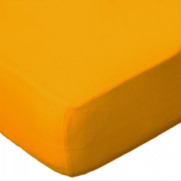 Prześcieradło jersey 160x200 z gumką wz. D004 ( żółty)