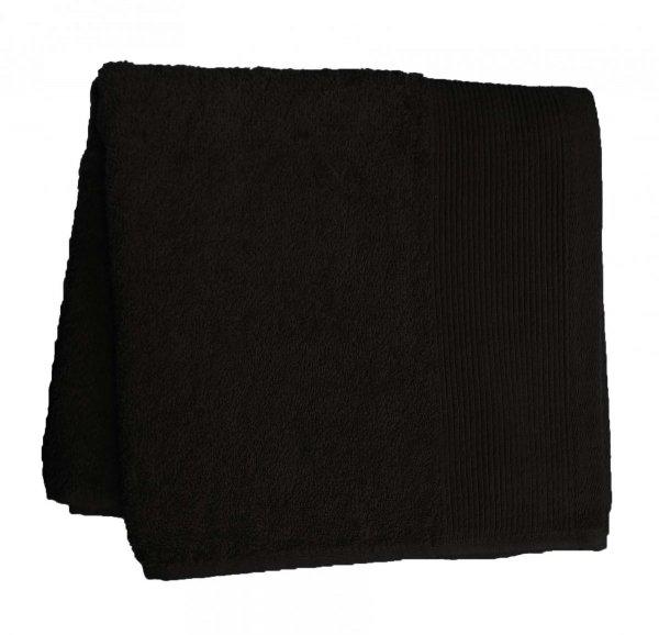 Ręczniki, ręcznik jednobarwne AQUA rozmiar 70x140 wz. czarny