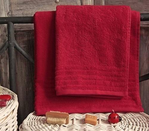 Ręcznik PROMOCJA MELODY - rozmiar 50x100 wz. Czerwony