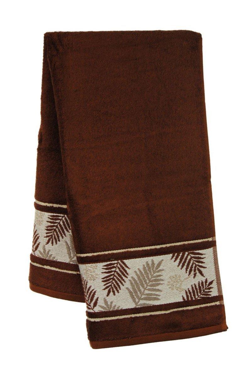 Ręcznik Bambusowy -  50x90 Tropical  CZEKOLADOWY