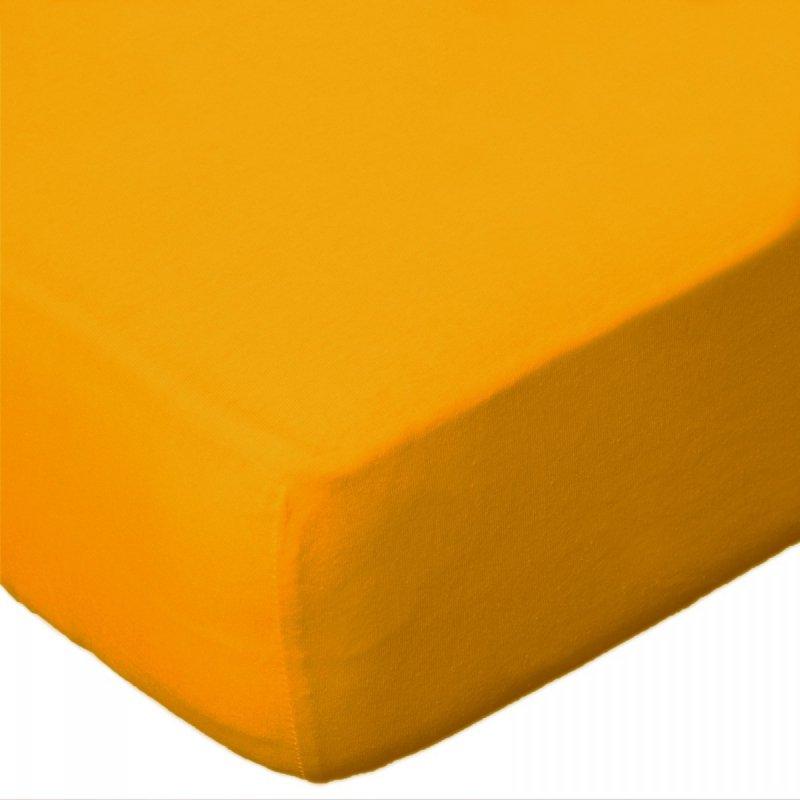 Prześcieradło jersey 120x200 z gumką wz. D004 (żółty)