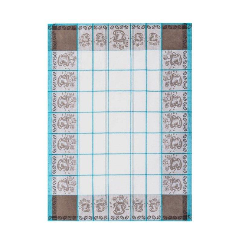 Ścierka Czapla (ŻAKARD) 50x70 Filiżanki kolor: turkusowy