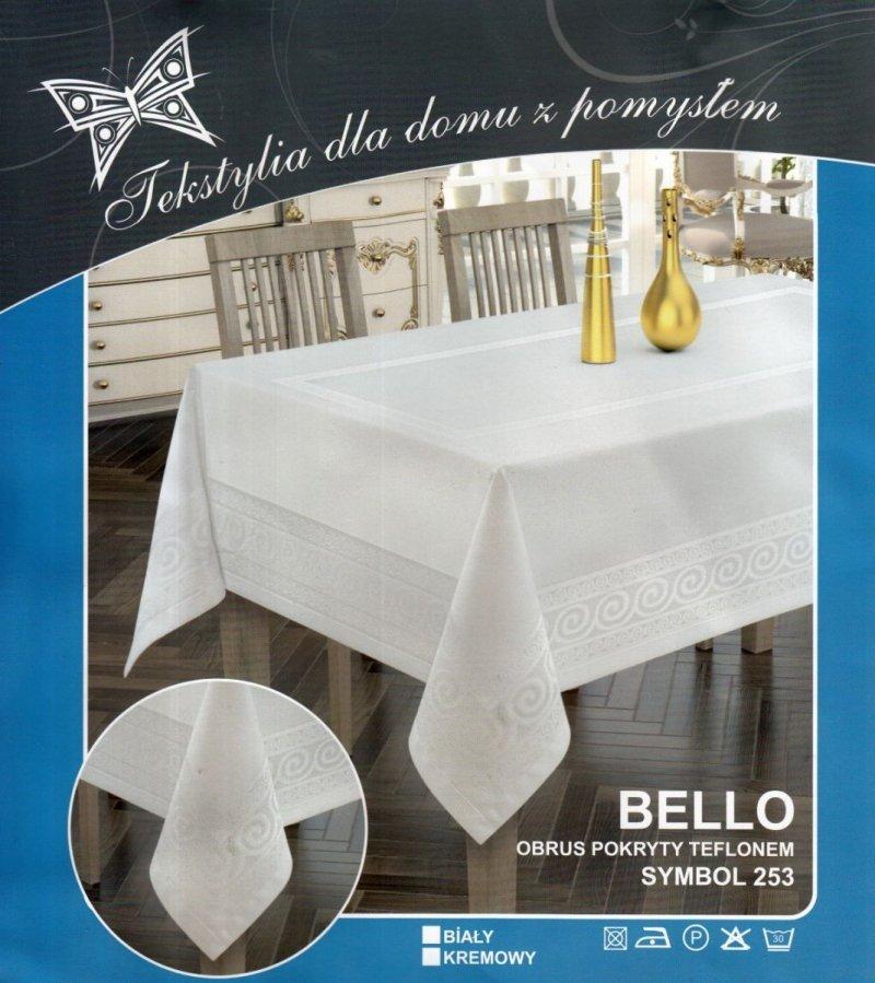 Obrus teflonowy bello rozmiar 60x120 wzór biały (253)