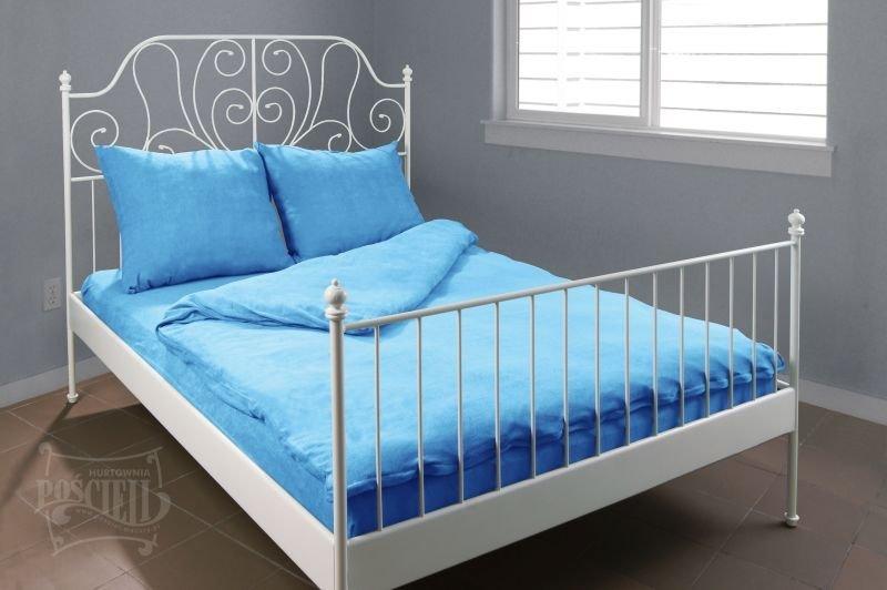 Pościel Frotte wz. 17 niebieski rozmiar 160x200