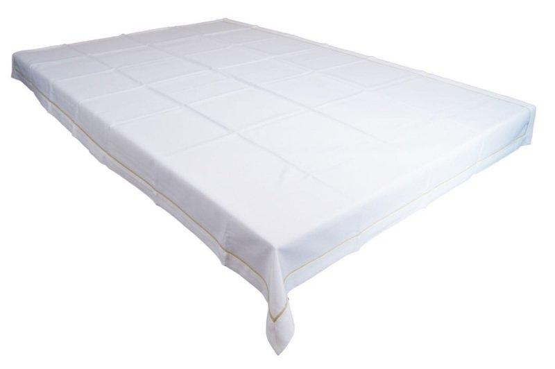 Obrus z mereżką rozmiar 150x220 wzór biały (210)