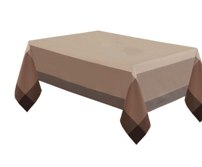 Obrus rozmiar 140x220 wzór beż/czekolada (218)