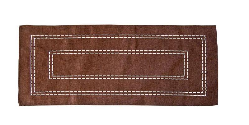 Obrus Haftowany Bruna 59-1 50x100 cm kolor: Brazowy