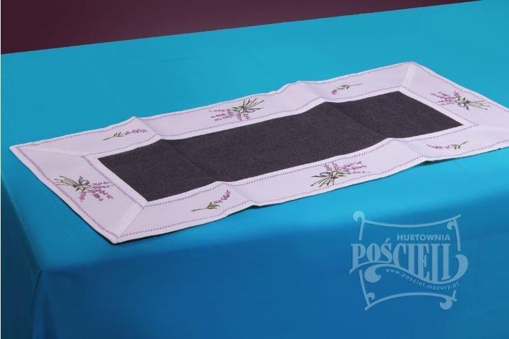 Ozdobny obrus  rozmiar 40x90cm Lawenda Kolor: biało-czarny