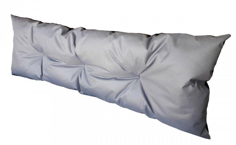 Poduszka ogrodowa na paletę - oparcie 120x40 wz. Szary