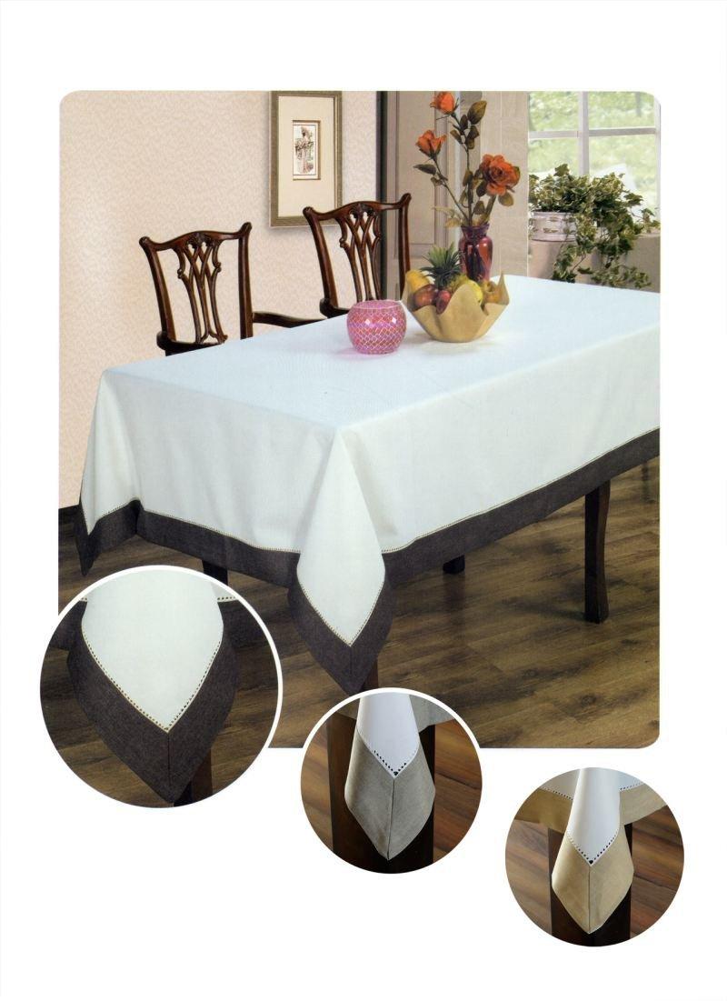 Obrus z mereżką rozmiar 50x100 kolor ecru/czekolada (211)