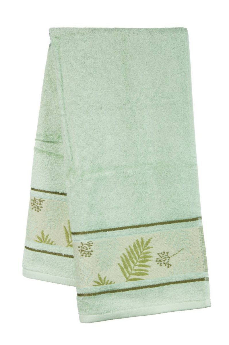 Ręcznik Bambusowy - 50x90 Tropical  OLIWKOWY