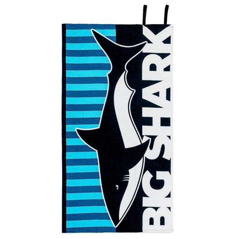 Ręcznik plażowy z gumką 90x170 wz. Rekin