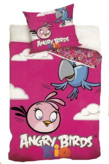 Pościel licencyjna 100% bawełna 160x200 lub 140x200 - Angry Birds-AB8005