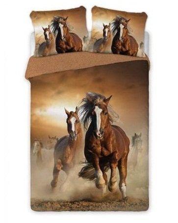 Pościel 100% bawełna Perkal 160x200 lub 140x200 -wz. Konie