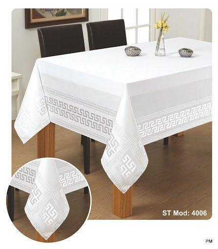 Obrus teflonowy rozmiar 140x180 wzór biały (190)