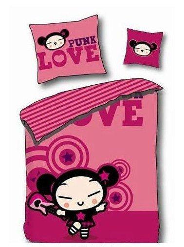 Pościel licencyjna Disney 100% bawełna 160x200 lub 140x200 Pucca Punk Love - LD197