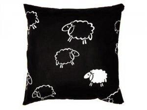 Poszewka na poduszkę BARANKI 70x80 - 100% bawełna, wz. czarne