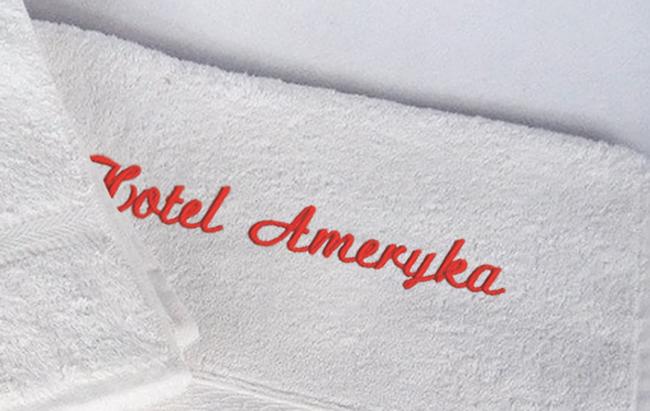 Usługa haftu dla produktów hotelowych