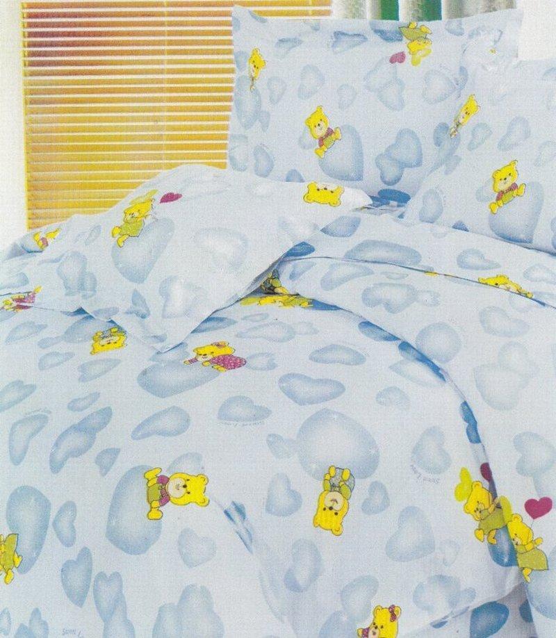 Pościel dziecięca  do łóżeczka 90x120 wz. Misie z serduszkiem