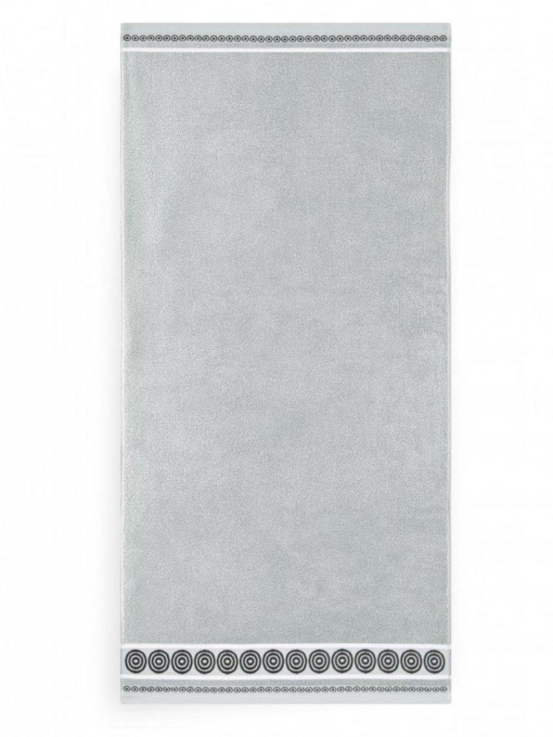 Ręcznik z bawełny egipskiej RONDO 2 70x140 wz. jasny grafit