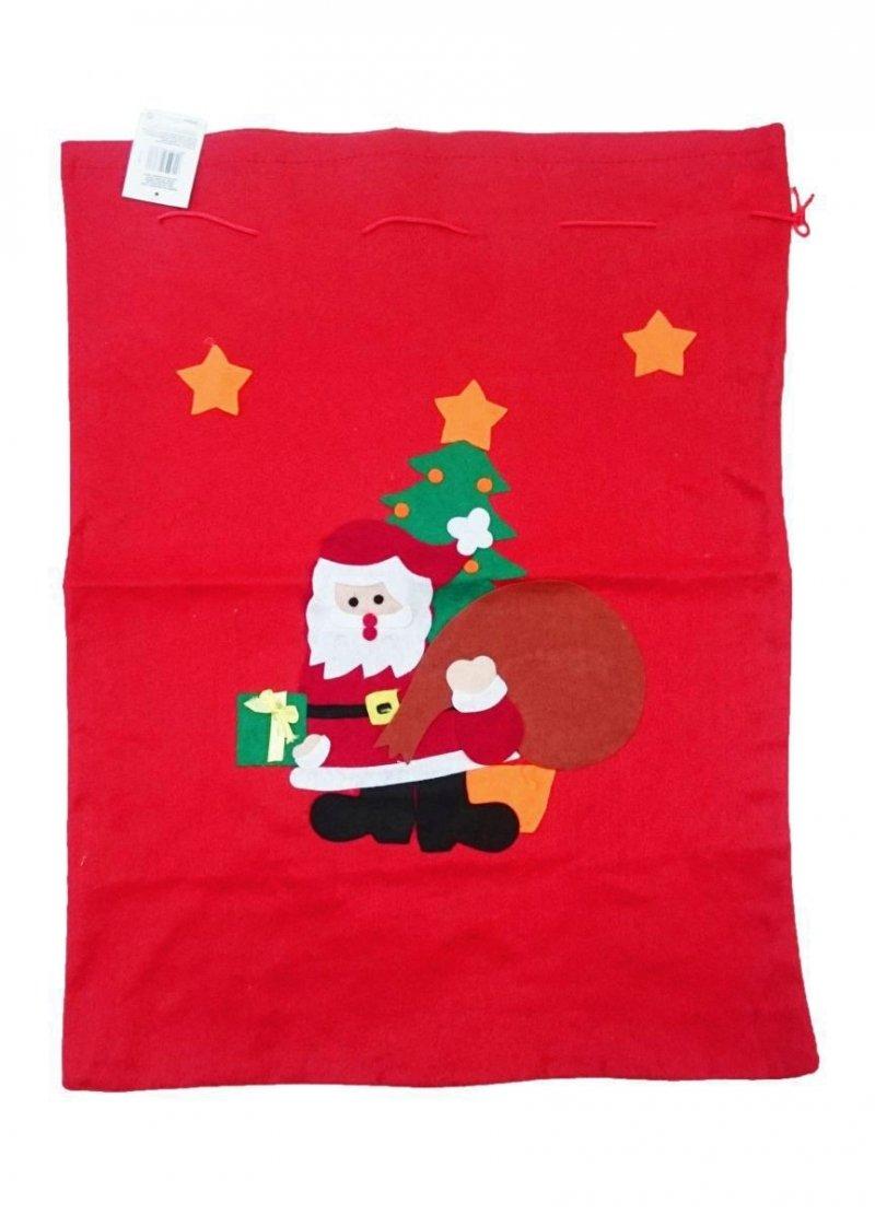 Worki na prezenty, worek Świętego Mikołaja duży roz. 55x80