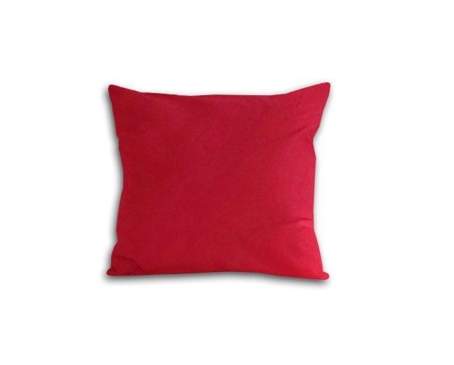 Poszewka na poduszkę 40x40 - 100% bawełna satynowa DARYMEX, zapięcie na zamek wz. czerwony