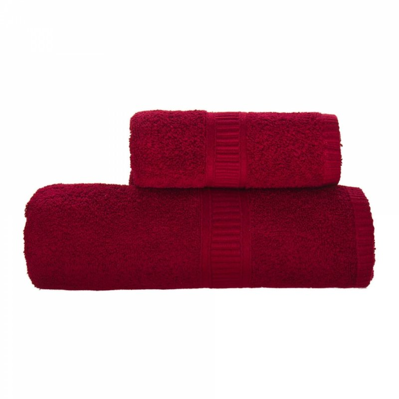 Ręcznik CHARLIE rozmiar 70x140 wz. bordowy