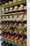 Weinregal Flaschenregal für bis 42 Flaschen, RW-20-42, WEISS/EICHE massiv geölt NATUR